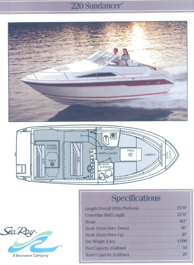 Sea Ray 220 Sundancer specs